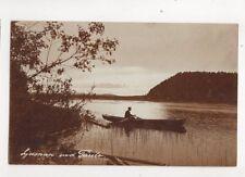 Ljusnan Vid Farila Sweden Vintage RP Postcard Edland 288b