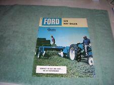 Vintage FORD 520 HAY BALER BROCHURE, AD-9157  126475