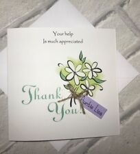 Thank You So Much Handmade card with personalised Tag For Women/ Carers/Friends