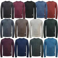 Jack & Jones Mens Textured Crew Neck Weave Knitted Pullover Sweater Jumper Top