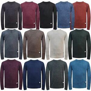 Jack & Jones Mens Textured Crew Neck Weave Knitted Pullover Sweater Jumper Top