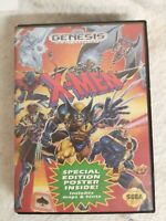 X-Men 1993 - Sega Genesis Working Box, Cover Art Game Tested Works XMEN Marvel