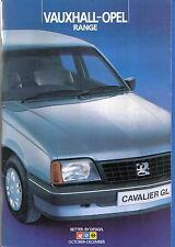 Vauxhall Opel Range Nova Astra Cavalier Manta GT Carlton Monza Oct-Dec 1984