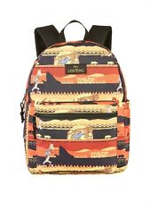 "Disney The Lion King Movie Backpack School bag Full size 16"" Sunset Live Action"