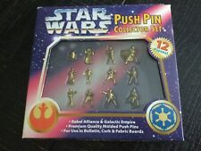 Vintage 1997 Star Wars Push Pin Collector 12 Piece Set New Collectible