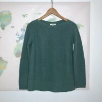 Madewell Size XS Sweater Assembly Pullover Green Merino Wool Boat Neck