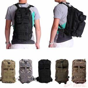Camping Hiking Backpack Rucksack Sport Hunting Travel Military Tactical Bag Case