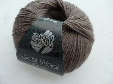 NEW : Cool Wool Fine 50g Lana Grossa Merino Wool Color Colour 33 Light Brown