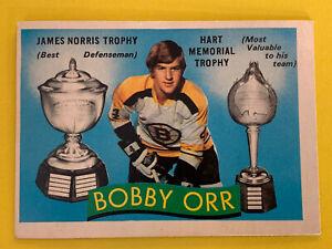 1971-72 O-Pee-Chee BOBBY ORR Trophy Winner