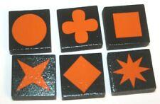 QWIRKLE Replacement Pieces 6 ORANGE Tiles Parts Set (1 of each shape!) Mindware