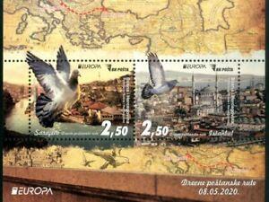 2020 Block, EUROPA, Ancient postal routes, Bosnia and Herzegovina, MNH