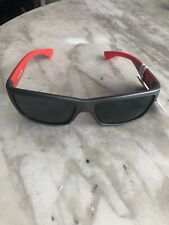 REEBOK MEN'S MIRRORED SPORT SUNGLASSES, RBOP 1909 Grey Matte/Red