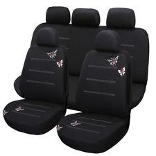 Universal Schmetterling-Stickerei-Stoff Auto Sitzbezug Set waschbar Schonbezüge