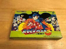 CIB Capcom Rockman 3 Nintendo Famicom Game Megaman NES Keiji Inafune Complete