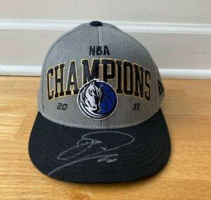 Dirk Nowitzki Dallas Mavericks 2011 NBA Champion Signed Autographed Hat Silver