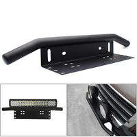 Black Duty Offroad Bumper License Plate Mounting Bracket LED Fog Light Support