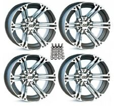 "Itp Ss212 Atv Wheels/Rims Machined 12"" Honda Foreman Rancher Sra"