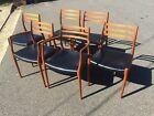 Set Six (6) Danish Teak Niels O. Moller Dining Chairs Model 62 & 78 Mid Modern