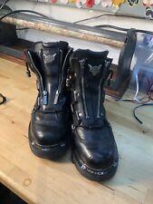 Harley Davidson Men's Motorcycle Black Leather Boots Size US 8 1/2