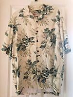 Mens Hilo Hattie Hawaiian Shirt Floral Size Large