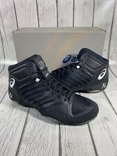 ASICS Men's JB Elite III 3 J702N Black White Athletic Mens Wrestling Shoes