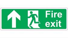 """300mm x 100mm """"FIRE EXIT - UP"""" Directional Health and Safety Sticker / Sign"""