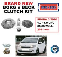 BORG and BECK 3-PIECE CLUTCH KIT for SKODA CITIGO 1.0 +CNG 60-68-75 bhp 2011->on