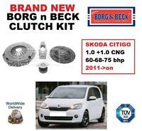 BORG and BECK 3-PIECE CLUTCH KIT for SKODA CITIGO 1.0 +CNG 60-68-75 bhp 2011->on
