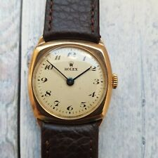 Rolex 9ct Solid Yellow Gold Cushion Men's Watch