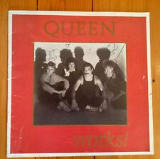 QUEEN WORKS PROGRAMME HAND SIGNED BY THE WHOLE BAND-FREDDIE MERCURY