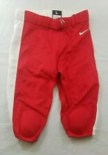 Nike Mens Knee Padded Football Pants Red White Striped Large Msrp $85.00