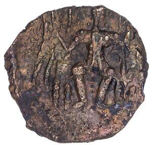 India Kushan Empire Vasudeva II 267-300 Æ Unit ANS Kushan 1651