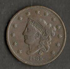 USA grandi dimensioni in rame un centesimo 1835 GVF piccole 8 e stelle