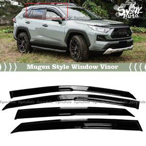 FITS 2019-2021 TOYOTA RAV4 JDM 3D MUGEN STYLE WINDOW VISOR RAIN GUARD DEFLECTOR