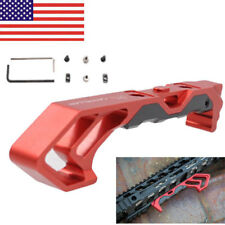 FOREGRIP Metal Angled Fore Grip MOD Rail for Keymod&M-LOK Compatible Mount Red