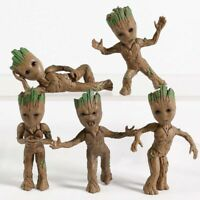 5 pcs Guardians of The Galaxy Baby Groot Tree Man Figure Car Decorative Toys