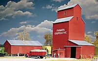 WALTHERS CORNERSTONE HO SCALE 1/87 GRAIN ELEVATOR FARMERS COOP | BN | 933-3036