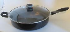 """Mirro Nonstick 12"""" Jumbo Frying Pan Cooker Deep Fry Saute Skillet Glass Lid"""