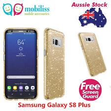 SPECK Presidio Shockproof Heavy Duty Case Gold Glitter Samsung Galaxy S8 Plus+SP