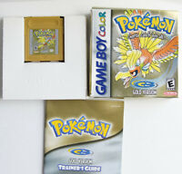 AUTHENTIC Pokemon Gold Version New Battery CIB Complete GBC