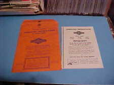1979 Briggs & Stratton Operating Instructions Manual Series 60'S And 80'S Listed