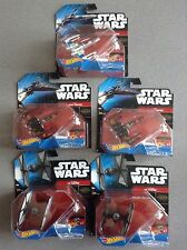 5 Vaisseaux (figurines) STAR WARS : X-wing figther / Tie - Hot Wheels micro