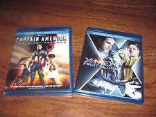 Captain America: The First Avenger + X-MEN;Marvel Blu-ray/DVD] NM+Fast Ship