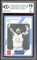 1989-90 North Carolina #65 Michael Jordan Card BGS BCCG 10 Mint+