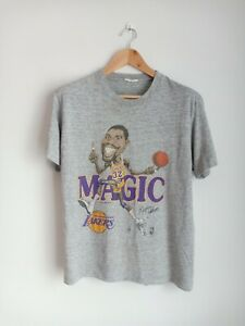 Vintage Magic Johnson caricature 80's T-shirts NBA Basketball Salem Sportwear