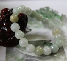 Certified Natural (Grade A) Untreated Jadeite JADE Beads Bracelet 10mm #Br189