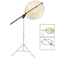 Reflector Holder Studio Boom Arm 1.8m Collapsible Disc Photography Grip Photo UK