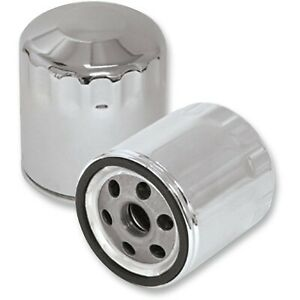 S&S Cycle - 31-4102A - Oil Filter, Chrome Harley-Davidson Softail Custom FXSTC,S