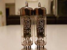 Philips Ralin EZ90 6X4 rectifier tube Holland x 2 D getter type1