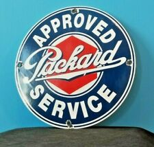 VINTAGE PACKARD GASOLINE PORCELAIN GAS SERVICE STATION AUTOMOBILE SIGN